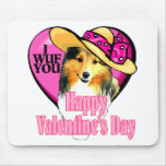 Shetland Sheepdog Sheltie Valentines Mouse Pad