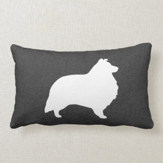 Shetland Sheepdog Silhouette Lumbar Cushion