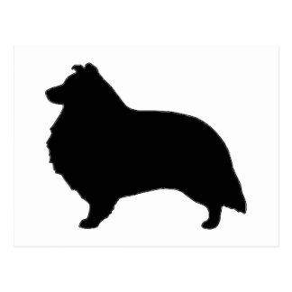 shetland sheepdog silo black.png postcard
