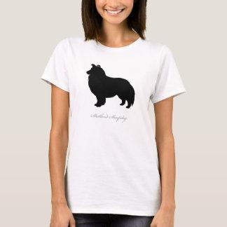 Shetland Sheepdog T-shirt (black silhouette)