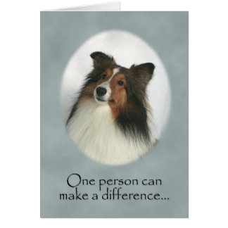 Shetland Sheepdog Thank You Card