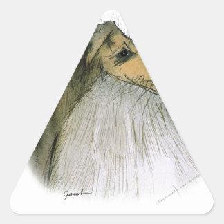 Shetland Sheepdog, tony fernandes Triangle Sticker