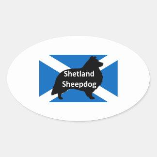shetland silo on Scotland flag png Stickers
