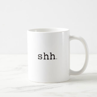 Shh. Black Blue Red Mug