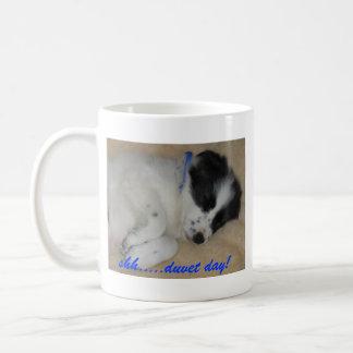 shh.....duvet day! coffee mug