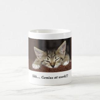 Shh.... Genius at work!!! Basic White Mug