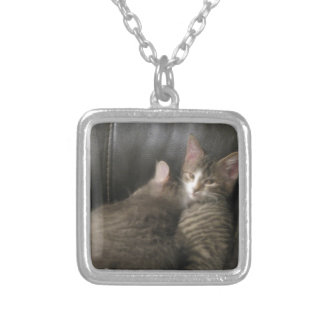 Shh...He's Sleeping... Square Pendant Necklace