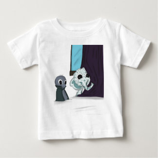 shh i'm hiding monster digital art baby T-Shirt