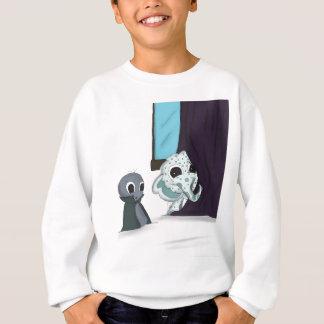 shh i'm hiding monster digital art shirt