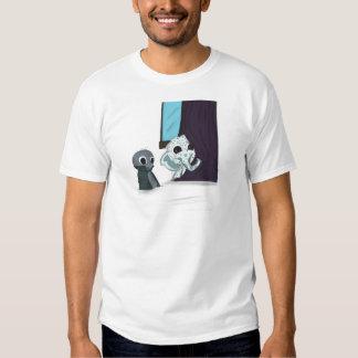 shh i'm hiding monster digital art tshirts