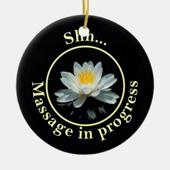 Shh Massage in progress Door Sign Christmas Ornament