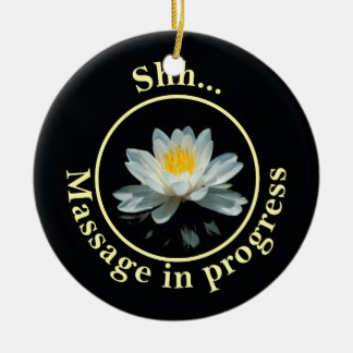 Shh... Massage in progress Door Sign Round Ceramic Decoration