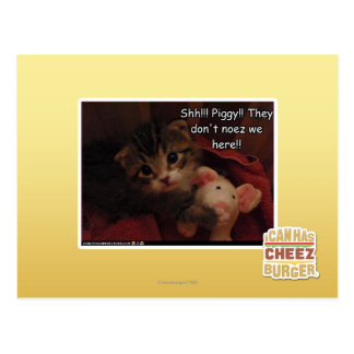Shh!!! Piggy!! Postcard