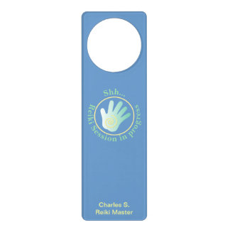 Shh  Reiki Session in Progress Door Knob Hangers