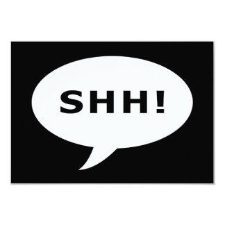 "SHH! talking bubble 3.5"" X 5"" Invitation Card"