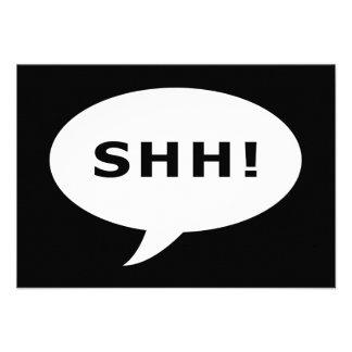 SHH! talking bubble Custom Announcement