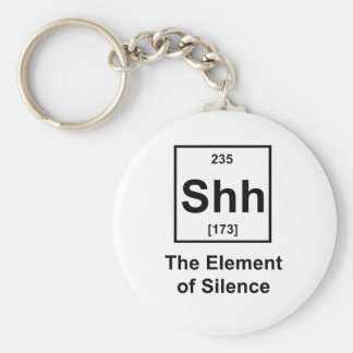 Shh, The Element of Silence Basic Round Button Key Ring