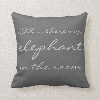Shh ... there's an elephant in the room cushions