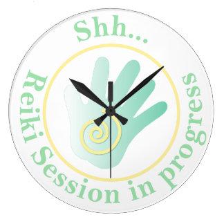 Shh Treatment in Progress Round Wall Clocks