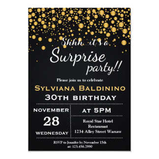 SHHH…ITS A SURPRISE PARTY!… BIRTHDAY INVITATION