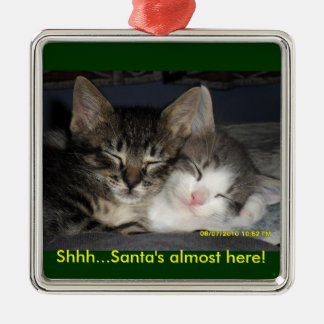 Shhh...Santa's almost here! Christmas Ornament