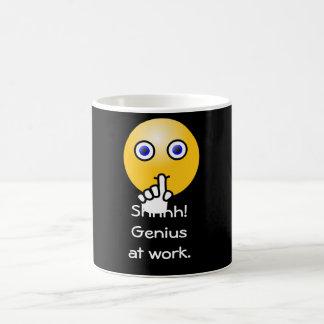 Shhhh! Genius at work -- Coffee mug