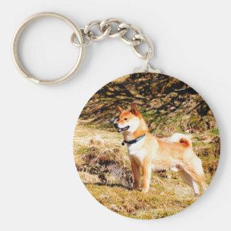 Shiba Inu Basic Round Button Key Ring