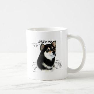 Shiba Inu (blk/tan) History Design Coffee Mugs
