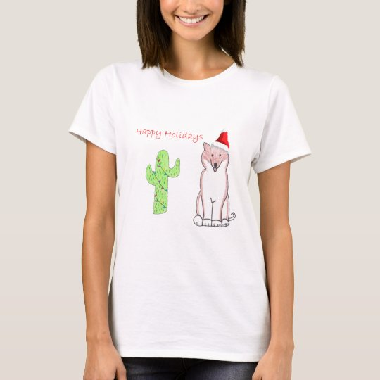 Shiba Inu Cactus Christmas T-Shirt