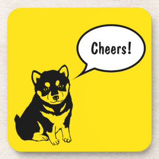 Shiba Inu Chinese Dog Year 2018 Square Coaster