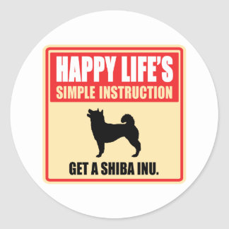 Shiba Inu Classic Round Sticker