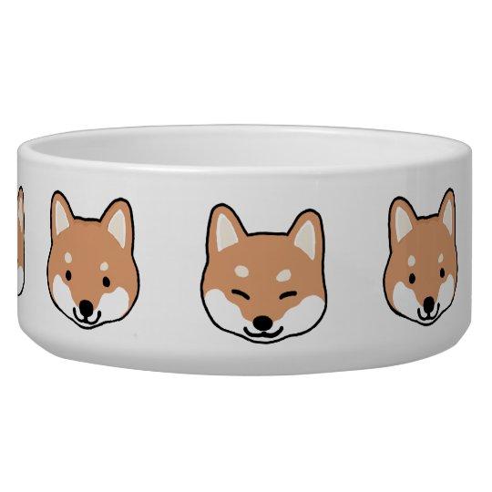 Shiba Inu Cute Dog Faces Pet Water Bowl