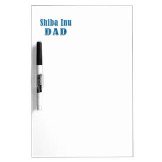 Shiba Inu Dad Blue Text Dry-Erase Whiteboard