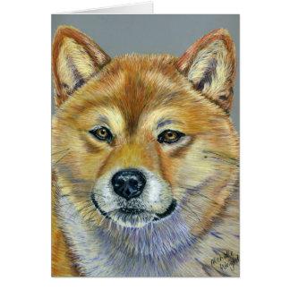 Shiba Inu Dog Art - Suki Card