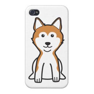 Shiba Inu Dog Cartoon iPhone 4 Cases