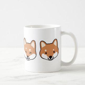 Shiba Inu Dog Faces Coffee Mug