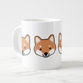Shiba Inu Dog Faces Large Coffee Mug
