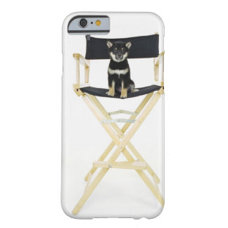 Shiba Inu dog on director's chair Barely There iPhone 6 Case