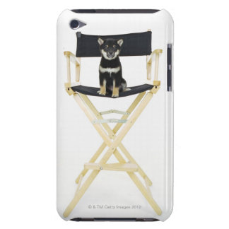 Shiba Inu dog on director's chair Barely There iPod Cases