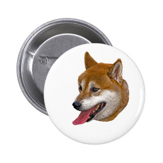 Shiba Inu Gift 6 Cm Round Badge