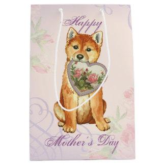 Shiba Inu Heart Mom Medium Gift Bag