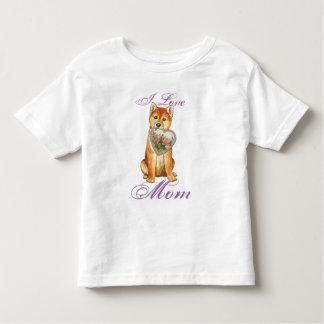 Shiba Inu Heart Mom Toddler T-Shirt