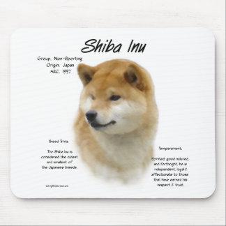 Shiba Inu History Design Mouse Mat