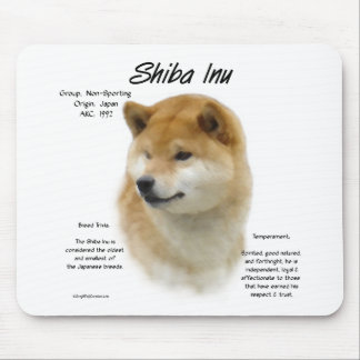 Shiba Inu History Design Mouse Pad