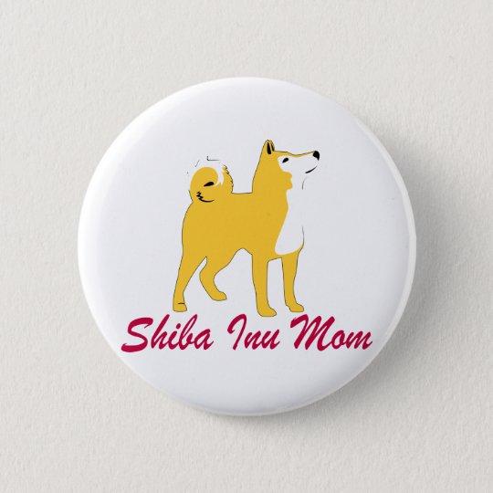 Shiba Inu Mum 6 Cm Round Badge