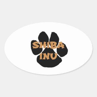 shiba inu name paw.png oval sticker
