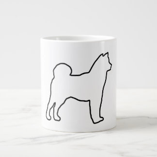Shiba Inu outline.png Giant Coffee Mug