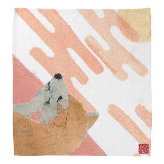 Shiba Inu, Pink Sunset, Japanese Bandana