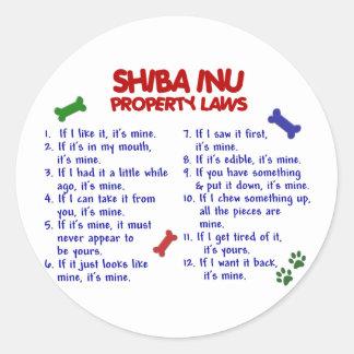 SHIBA INU Property Laws 2 Classic Round Sticker