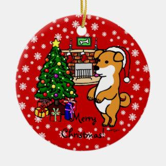 Shiba Inu Puppy Christmas Christmas Ornament